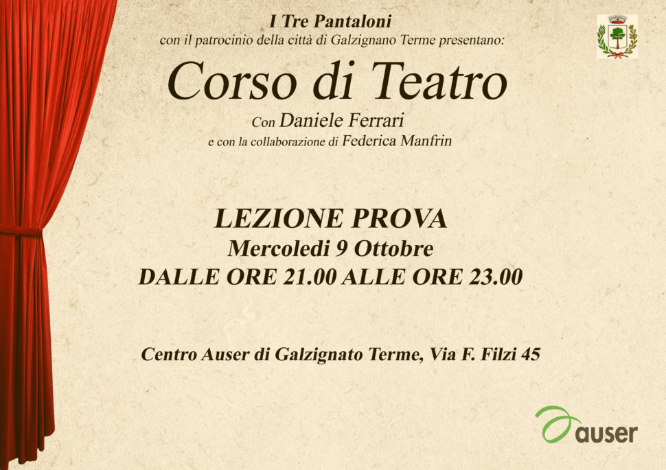 Lezione Prova Corso di Teatro a Galzignano Terme