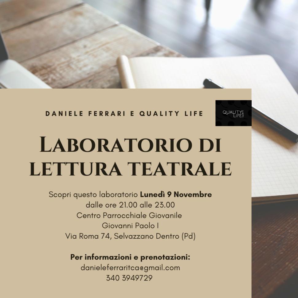 Presentazione del nuovo Laboratorio di Lettura – Selvazzano Dentro