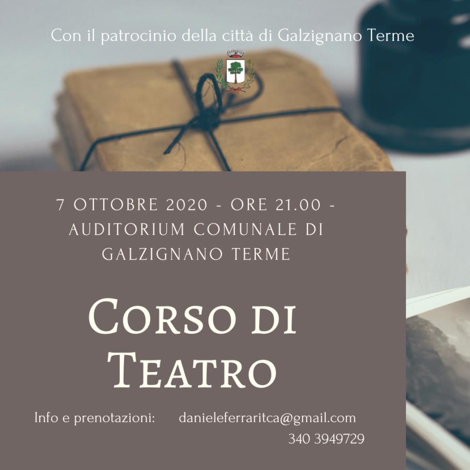 Presentazione del nuovo Corso di Teatro – Galzignano Terme