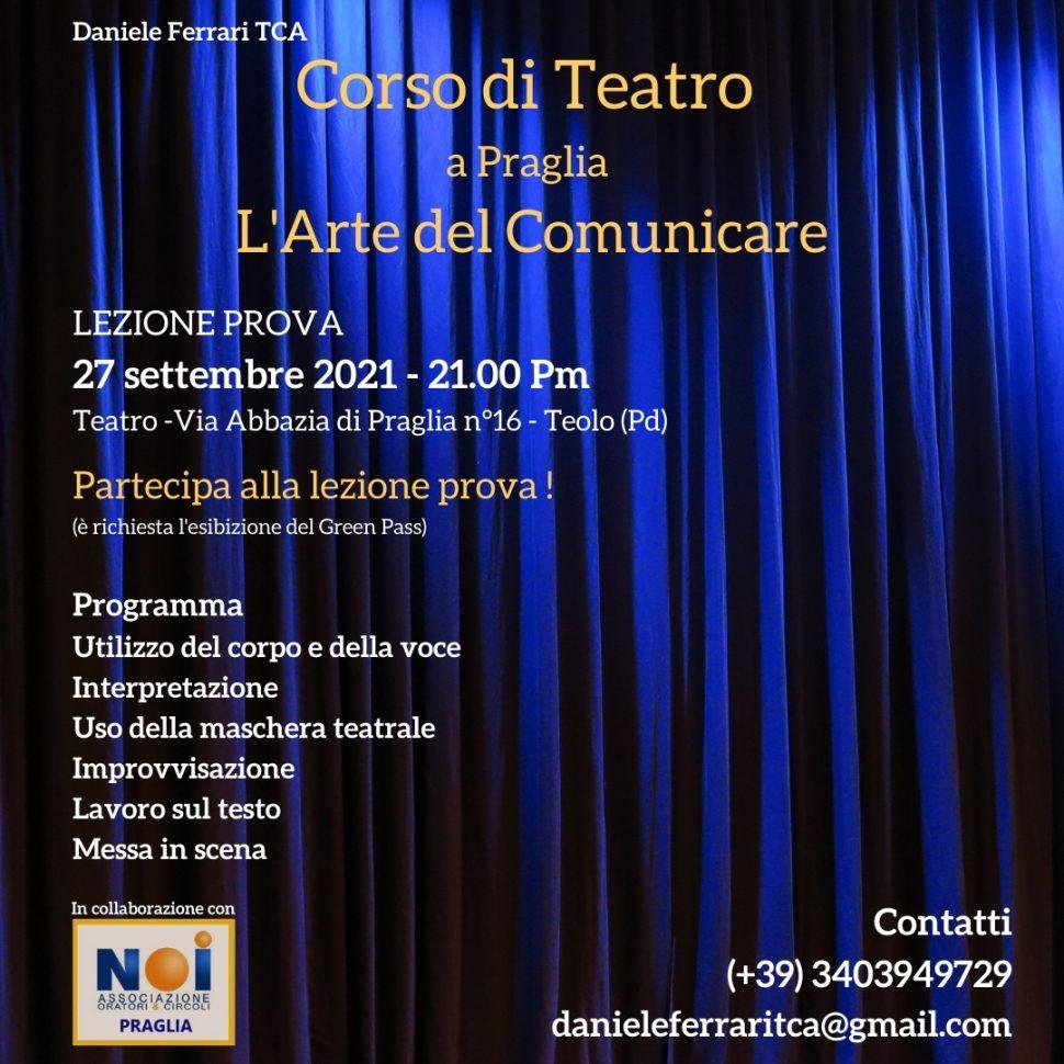 Presentazione Corso di Teatro a Praglia – Teolo (Pd)