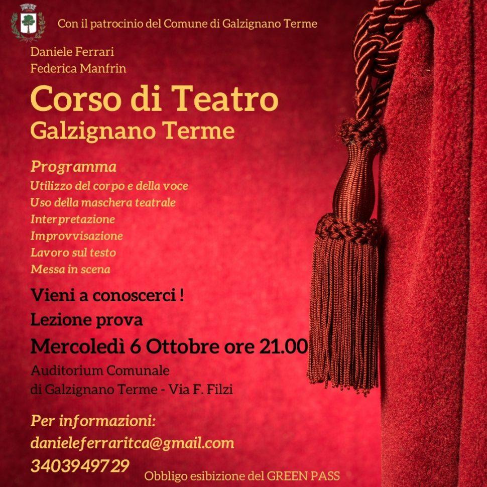 Presentazione del nuovo Corso di Teatro a Galzignano Terme (Pd)